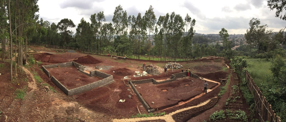A panoramic view of the main village site
