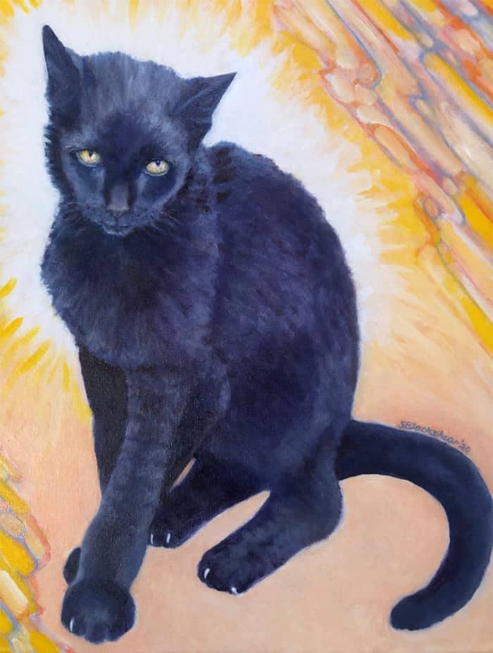 Sue Blackshear Cat Painting - Quail Springs